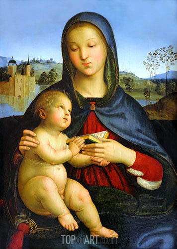 Madonna and Child with Book, c.1502/03 | Raphael | Painting Reproduction