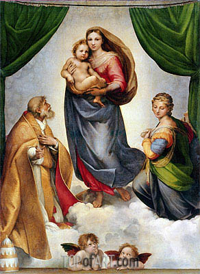 The Sistine Madonna, 1513 | Raphael | Painting Reproduction