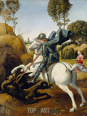 Raphael | Saint George and the Dragon, c.1506