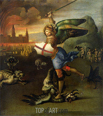 Saint Michael and the Dragon, c.1503/04 | Raphael| Painting Reproduction