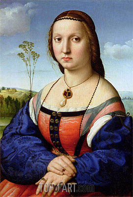 Portrait of Maddalena Doni, 1506 | Raphael| Painting Reproduction