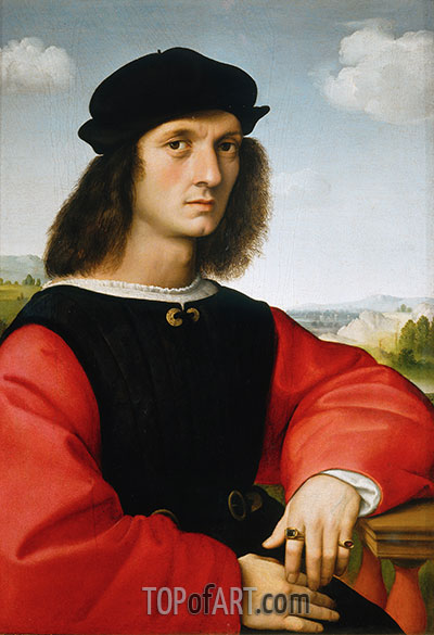 Portrait of Agnolo Doni, 1506 | Raphael | Painting Reproduction