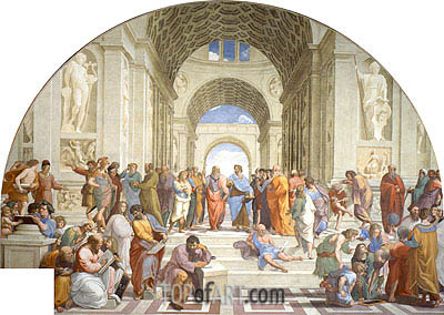 School of Athens, c.1510/11 | Raphael | Gemälde Reproduktion