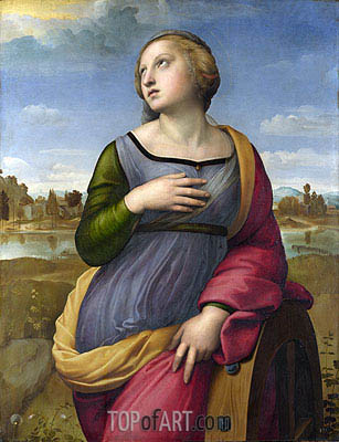 Saint Catherine of Alexandria, c.1507 | Raphael| Painting Reproduction