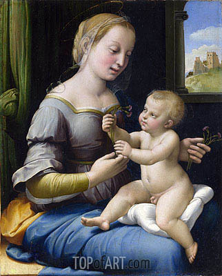 The Madonna of the Pinks (La Madonna dei Garofani), c.1506/07 | Raphael| Painting Reproduction