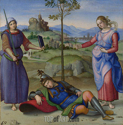 An Allegory (Vision of a Knight), c.1504 | Raphael| Painting Reproduction
