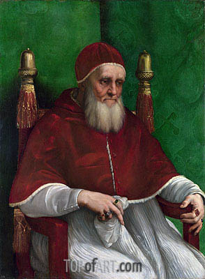 Portrait of Pope Julius II, 1511 | Raphael| Painting Reproduction