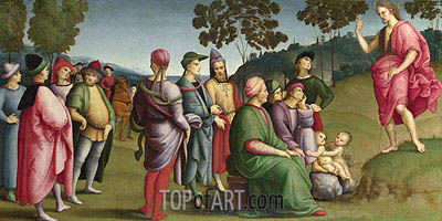 Saint John the Baptist Preaching, 1505 | Raphael| Painting Reproduction