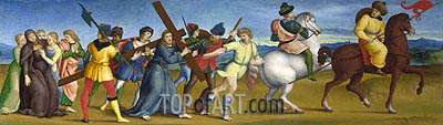 The Procession to Calvary, c.1504/05 | Raphael| Painting Reproduction