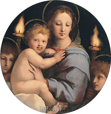 Madonna of the Candelabra, c.1513 | Raphael| Painting Reproduction