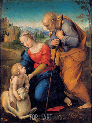 Raphael | The Holy Family with a Lamb, 1507