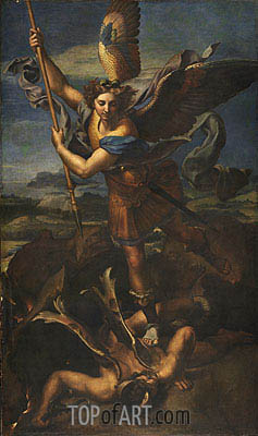 St. Michael Overwhelming the Demon, 1518 | Raphael | Painting Reproduction