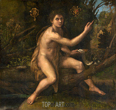 St. John the Baptist in the Desert, c.1516 | Raphael | Painting Reproduction