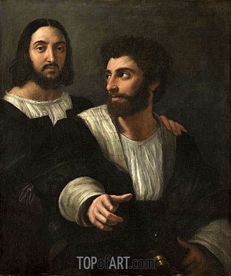 Self Portrait with a Friend, c.1518/19 | Raphael| Painting Reproduction