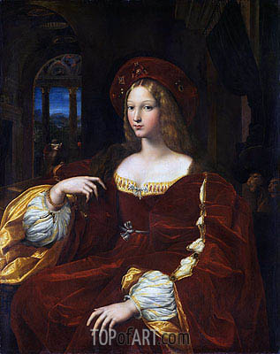 Raphael | Portrait of Dona Isabel de Requesens, Vice-Queen of Naples (Portrait of Jeanne of Aragon), 1518