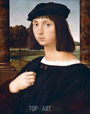 Portrait of a Youth, undated | Raphael| Painting Reproduction