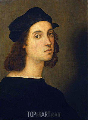 Self Portrait, c.1506 | Raphael | Gemälde Reproduktion