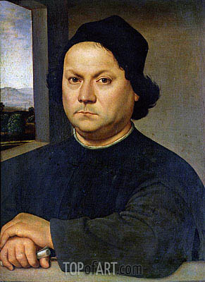 Portrait of Perugino, c.1504 | Raphael | Painting Reproduction