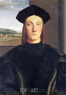 Portrait of Guidobaldo da Montefeltro, Duke of Urbino, undated | Raphael | Painting Reproduction