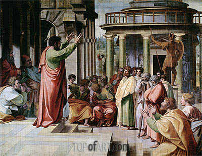 Saint Paul Preaching at Athens, c.1515/16 | Raphael | Gemälde Reproduktion
