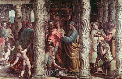 The Healing of the Lame Man, c.1515/16 | Raphael| Painting Reproduction
