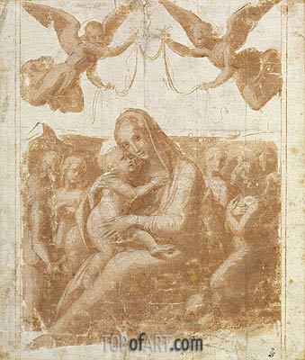 The Virgin and Child Surrounded by Angels, undated | Raphael| Painting Reproduction