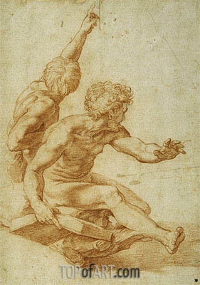 St. Andrew and Another Apostle in 'The Transfiguration', undated | Raphael| Painting Reproduction