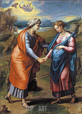 The Visitation, c.1517 | Raphael | Painting Reproduction