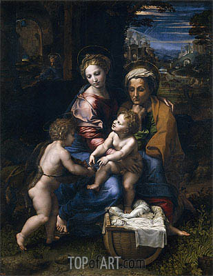 The Holy Family (The Pearl), c.1518 | Raphael| Gemälde Reproduktion