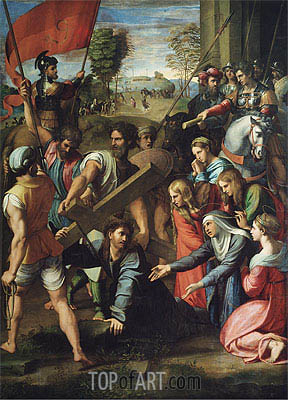 Raphael | Christ Falls on the Way to Calvary, c.1516