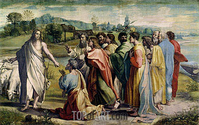 Christ's Charge to Peter, c.1515/16 | Raphael | Painting Reproduction