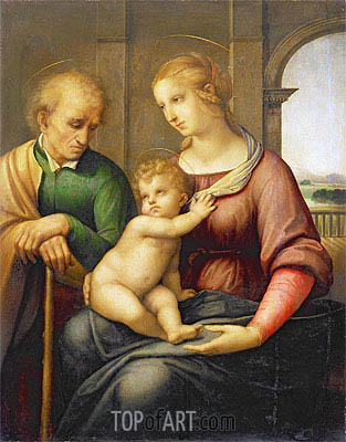 Holy Family (Madonna with Beardless Joseph), c.1505/06 | Raphael | Painting Reproduction