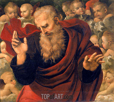 God the Father Blessing, c.1508 | Raphael | Painting Reproduction