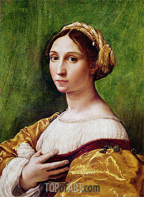 Portrait of a Young Girl , undated | Raphael| Painting Reproduction