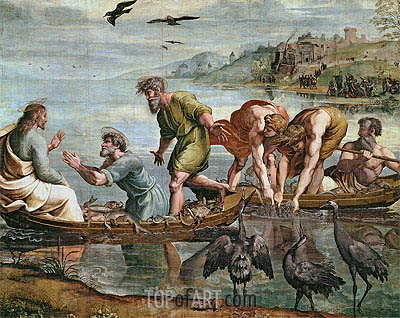 Raphael | The Miraculous Draught of Fishes, c.1515/16