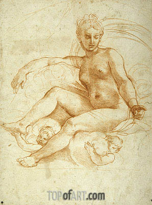 Venus Seated on Clouds, undated | Raphael| Painting Reproduction