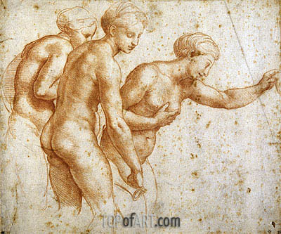 The Three Graces, undated | Raphael| Gemälde Reproduktion