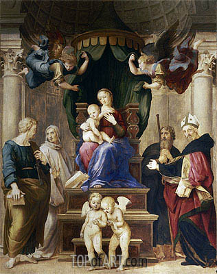 Madonna del Baldacchino, c.1507 | Raphael | Painting Reproduction