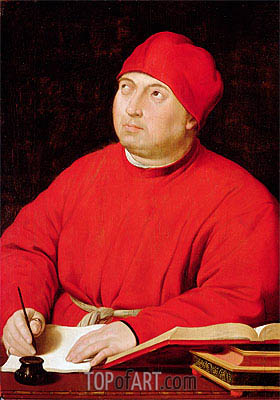 Portrait of Tommaso Inghirami, c.1516 | Raphael| Painting Reproduction