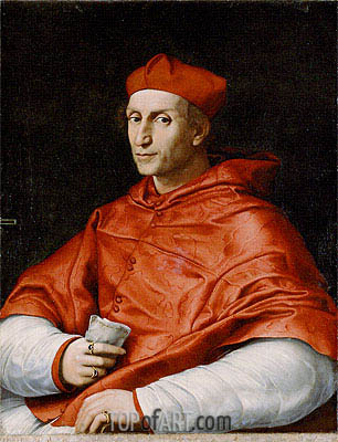 Portrait of Cardinal Bernardo Dovizzi Bibbiena, c.1514/16 | Raphael | Painting Reproduction