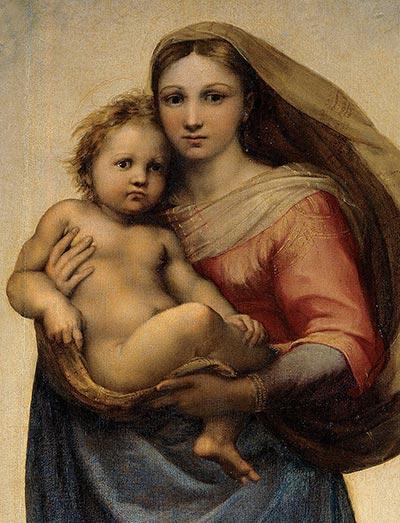 Die Sixtinische Madonna (Detail), 1513 | Raphael | Gemälde Reproduktion