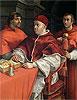 Portraits of Leo X, Cardinal Luigi de' Rossi and Giulio de Medici | Raffaello Sanzio Raphael