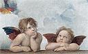 Putti (Detail from The Sistine Madonna) | Raffaello Sanzio Raphael