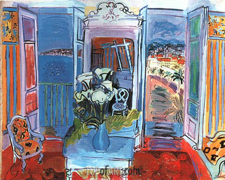 Raoul Dufy | Interior with Open Windows, 1928