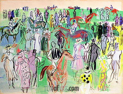 Ascot, 1938 | Raoul Dufy | Painting Reproduction