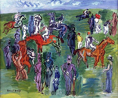 Aux Courses, undated | Raoul Dufy | Painting Reproduction