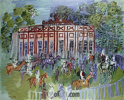 The Paddock at Chantilly, 1939 | Raoul Dufy | Gemälde Reproduktion