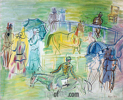 Paddock, undated | Raoul Dufy | Painting Reproduction