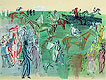 Racegoers on the Lawn | Raoul Dufy (inspired by)