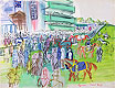 In Front of the Grandstand at Epsom | Raoul Dufy (inspired by)